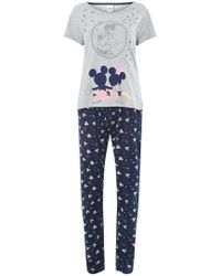 Dorothy Perkins - Grey Minnie And Mickey Pyjamas - Lyst