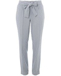 Dorothy Perkins - Tall Gingham Tie Tapered Trousers - Lyst