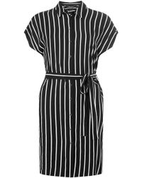 Dorothy Perkins - Black And Ivory Shirtdress - Lyst