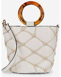 716d6cf941 Hot Dorothy Perkins - Cream Tort Handle Bucket Bag - Lyst