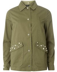 Dorothy Perkins Womens **Tall Stitch Front Shacket- How Much Sale Online yxKLOl1TK