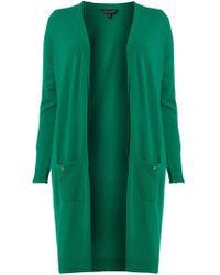 0fb1a99d9f1 Dorothy Perkins - Dp Curve Green Button Cardigan - Lyst