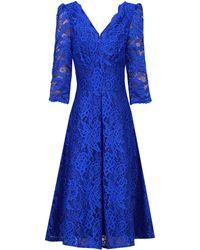 Dorothy Perkins - Jolie Moi Royal Blue 3/4 Sleeve Lace Prom Dress - Lyst