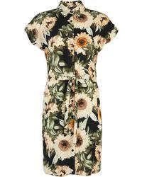 6948a4bf29c Dorothy Perkins - Multi Colour Sunflower Print Shirt Dress - Lyst