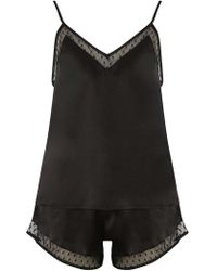 Dorothy Perkins | Black Spot Mesh Camisole Top And Pyjama Set | Lyst