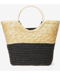 Dorothy Perkins - Multi Coloured Wooden Hoop Handle Beach Bag - Lyst