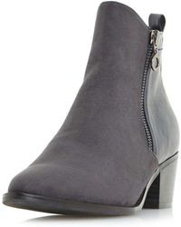 Dorothy Perkins | Head Over Heels By Dune Grey Pilar Ankle Boots | Lyst