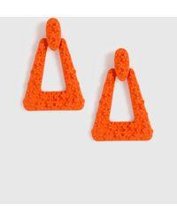 Dorothy Perkins Orange Doorknocker Earrings