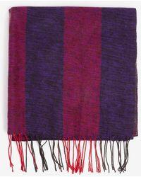 Dorothy Perkins - Purple Slub Blocked Blanket Scarf - Lyst