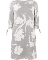 Dorothy Perkins - Lily & Franc Grey Floral Shift Dress - Lyst