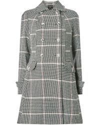 Dorothy Perkins - Multi Checked Button Dolly Coat - Lyst