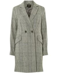 Dorothy Perkins - Multi Colour Check Coat - Lyst