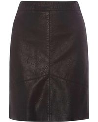 Dorothy Perkins - Tall Black Pu Mini Skirt - Lyst