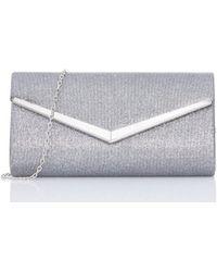 Dorothy Perkins - Quiz Glitter Envelope Bag - Lyst