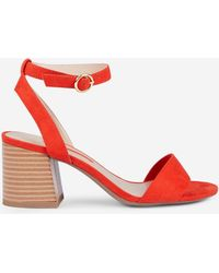 6faf1ade6e3 Dorothy Perkins - Red Shady Block Heel Sandals - Lyst. Dorothy Perkins - Wide  Fit ...