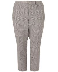 Dorothy Perkins - Dp Curve Black Checked Ankle Grazer Trousers - Lyst