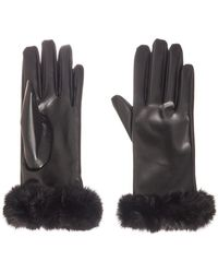 Dorothy Perkins - Quiz Black Faux Fur Gloves - Lyst