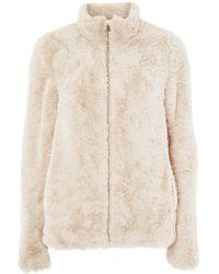 Dorothy Perkins - **tall Cream Faux Fur Coat - Lyst