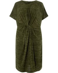 01358ed19ff Dorothy Perkins - Dp Curve Khaki Brushed Twist Bodycon Dress - Lyst