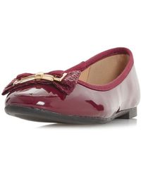 ceb28c567c1 Dorothy Perkins - Head Over Heels By Dune Burgundy Haze Flat Shoes - Lyst