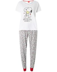 Dorothy Perkins - Multi Colour Valentine's Day Snoopy Pyjama Set - Lyst