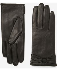 Dorothy Perkins - Black Bow Leather Gloves - Lyst
