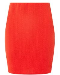 Dorothy Perkins - Red Textured Mini Tube Skirt - Lyst