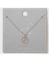 Dorothy Perkins | Leo Horoscope Necklace | Lyst