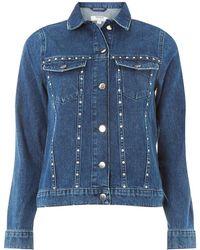 Dorothy Perkins - Blue Stud-embellished Denim Jacket - Lyst