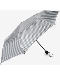 Dorothy Perkins - Black Dog Tooth Checked Umbrella - Lyst