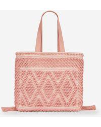 91ef797572 Dorothy Perkins - Blush Bobble Beach Shopper Bag - Lyst