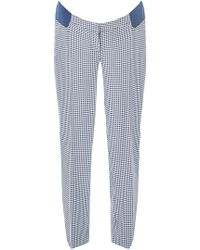 Dorothy Perkins - Maternity Blue Gingham Ankle Grazer Trousers - Lyst