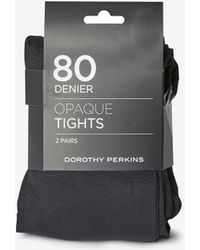 Dorothy Perkins - Black 2 Pack Maternity 80d Tights - Lyst