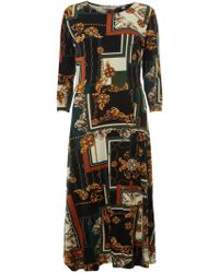2a177175bcc Dorothy Perkins - Tall Multi Colour Scarf Print Skater Dress - Lyst
