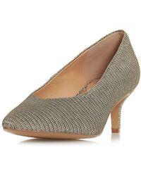 82fe0558b01 Dorothy Perkins - Head Over Heels By Dune Gold  amandi  Mid Heels Court  Shoes