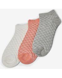Dorothy Perkins - 3 Pack Waffle Trainer Socks - Lyst