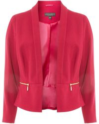 Dorothy Perkins - Fuchsia Cropped Tailored Jacket - Lyst