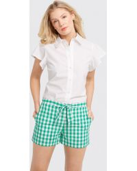 Draper James - Dolly Check Tie Shorts - Lyst