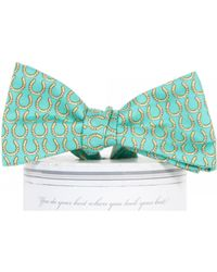 ae6089b2617e Draper James - Collared Greens Horseshoe Bow Tie - Lyst