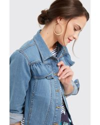 Draper James - Peplum Denim Jacket - Lyst