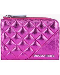 DSquared² - Mini Metallic Leather Wallet - Lyst