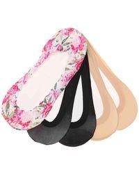Memoi - Lace Floral No Show Liners - Lyst