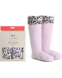HUNTER Original Tall Leopard Boot Socks - Multicolor