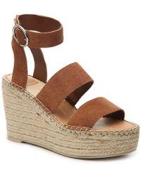 fcc4005dcd6 Lyst - Dolce Vita Kalie Leather Wedge Sandal in Brown
