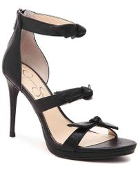 60b4205a51 Jessica Simpson Bravani Platform Sandal in Black - Lyst