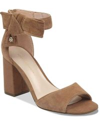 f7db97301f5c8 Lyst - Tommy Hilfiger Kitty T-strap Thong Sandals in Brown