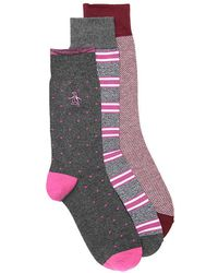 Original Penguin - Dot Crew Socks - Lyst