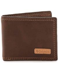 Columbia - Security Leather Bifold Wallet - Lyst