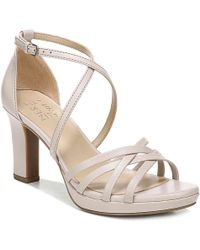 f05c615279d52 Lyst - Tory Burch Cecile Patent-leather Sandals