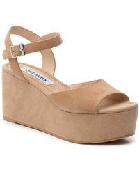 b32412622b64 Lyst - Steve Madden  nylee  Platform Sandal (women) in White
